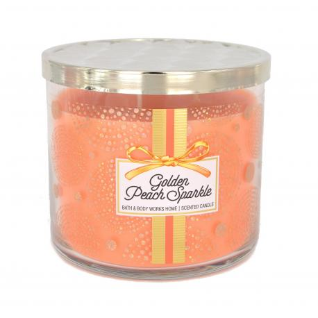Bougie parfumée 3 mèches GOLDEN PEACH SPARKLE Bath and Body Works