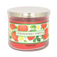 Bougie 3 mèches STRAWBERRY VANILLA Bath and Body Works