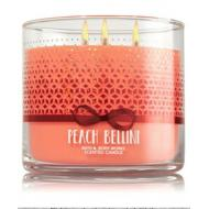 Bougie parfumée 3 mèches PEACH BELLINI Bath and Body Works  candle US USA