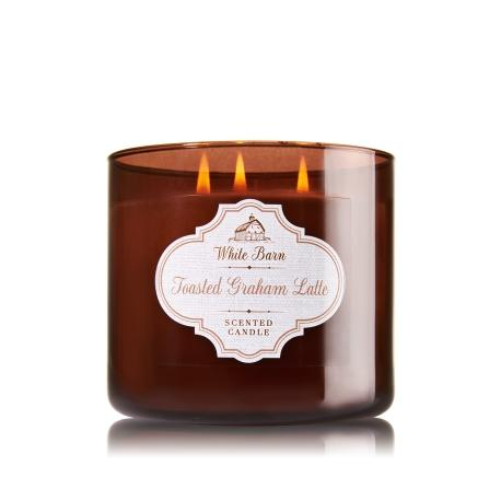 Bougie parfumée 3 mèches TOASTED GRAHAM LATTE Bath & Body Works candle US USA