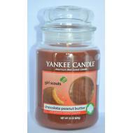 Bougie parfumée Grande Jarre CHOCOLATE PEANUT BUTTER Yankee Candle large jar exclu US USA