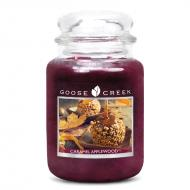 Bougie parfumée Grande Jarre 2 mèches CARAMEL APPLEWOOD Goose Creek Candle US USA