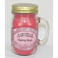 Bougie Mason Jar CHERRY DROP Our Own Candle Company