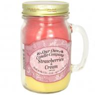 Bougie parfumée Mason Jar STRAWBERRIES & CREAM Our Own Candle Company US USA