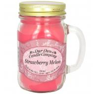Bougie parfumée Mason Jar STRAWBERRY MELON Our Own Candle Company US USA