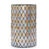 Jar Holder SILVER & GOLD MOSAIC pour bougie Yankee Candle photophore US USA