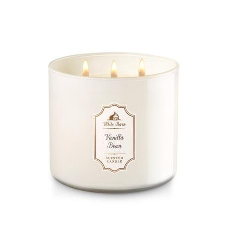 Bougie parfumée 3 mèches VANILLA BEAN Bath and Body Works candle US USA