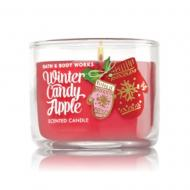 Mini bougie WINTER CANDY APPLE Bath and Body Works candle US USA