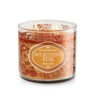 Bougie 3 mèches HOT BUTTERED RUM Bath and Body Works candle US USA
