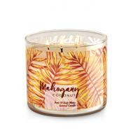 Bougie 3 mèches MAHOGANY COCONUT Bath and Body Works Hawaï Candle US USA
