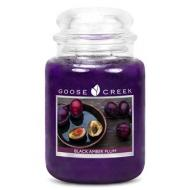 Bougie Grande Jarre 2 mèches BLACK AMBER PLUM Goose Creek Candle