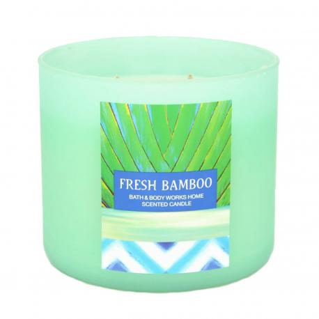 Bougie 3 mèches FRESH BAMBOO Bath and Body Works