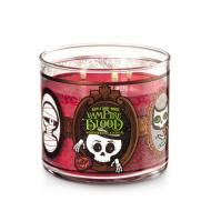 Bougie parfumée 3 mèches VAMPIRE BLOOD Bath and Body Works candle Halloween 2017 US USA